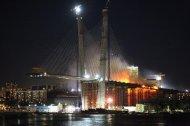 Пожар на мосту во Владивостоке
