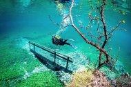 Подводный парк в Австрии Grüner See (Зелёное озеро)